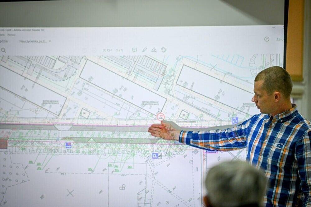 Konsultacje społeczne dotyczące przebudowy ul. Nauczycielskiej